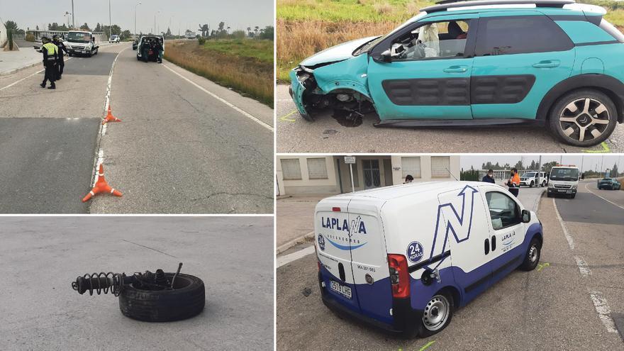 Una conductora drogada causa un aparatoso choque en Burriana