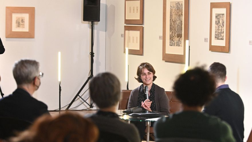 Sara Mesa inaugura el ciclo 'Intercanvis. Club de cultura', en el Museu de Belles Arts de Castelló