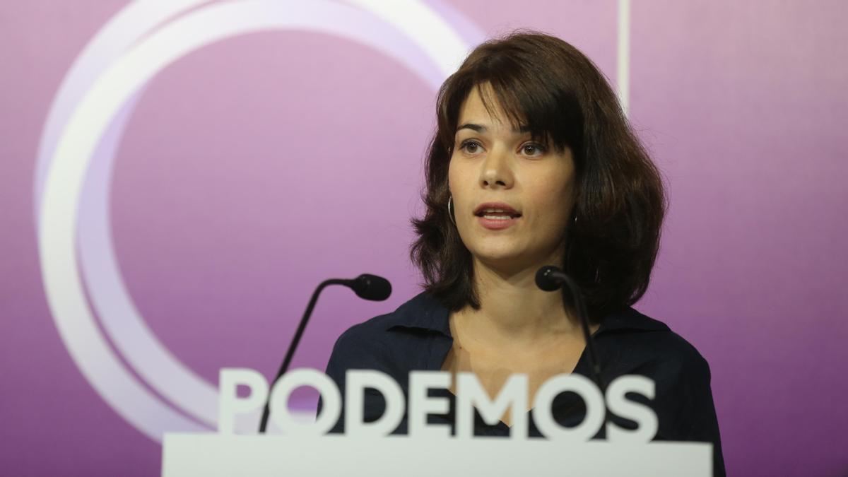 La coportavoz de Podemos, Isa Serra.