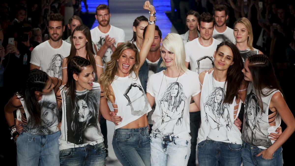 Imagen de archivo de la Sao Paulo Fashion Week.