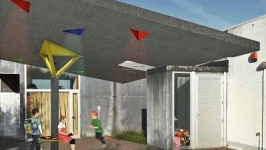 El Concello de Miño construirá un patio de juegos cubierto en el colegio de Bemantes