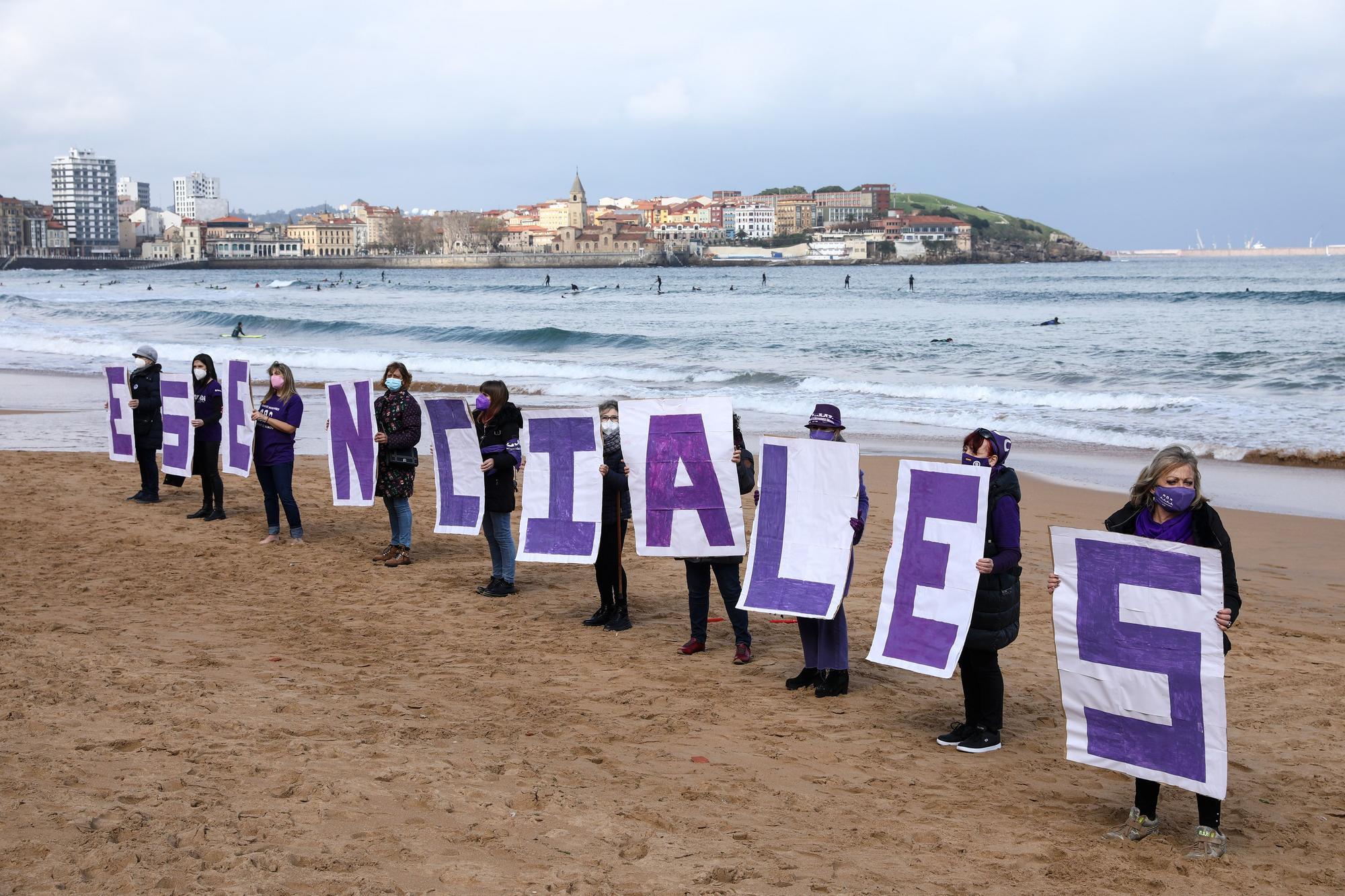"""Acto en Gijón por las mujeres """"esenciales"""" como previo al 8M"""