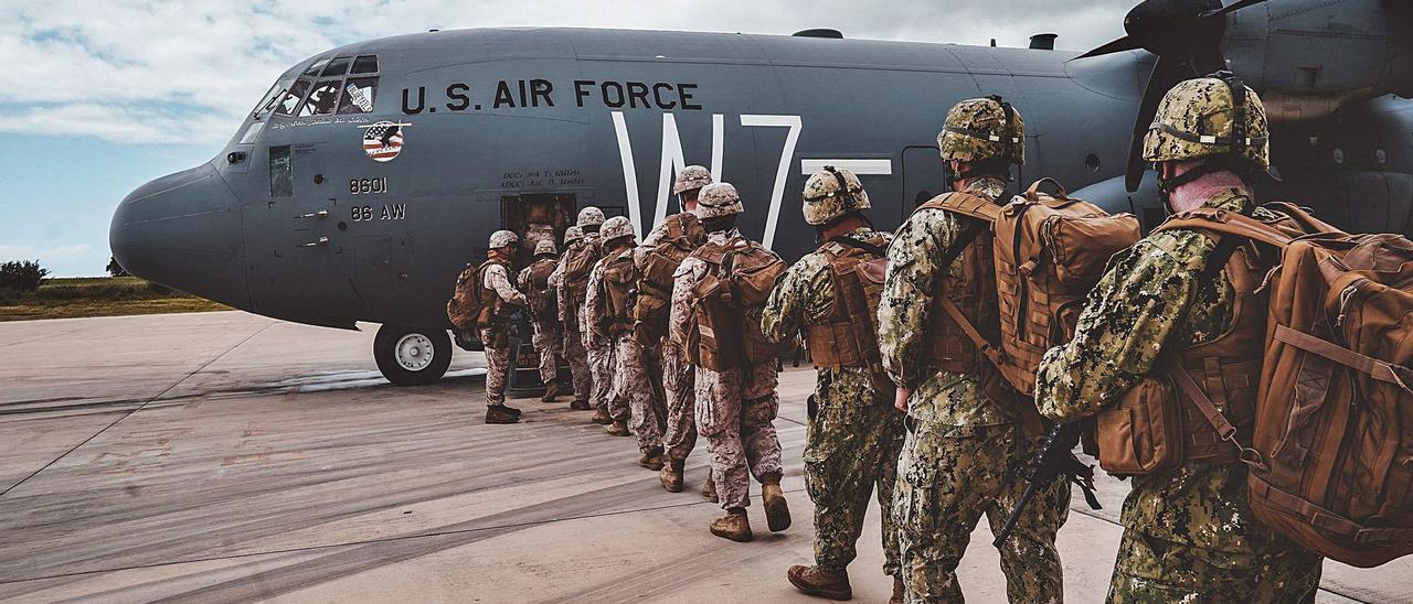 Imagen de archivo de marines estadounidenses asignados a la Fuerza de Combate Expedicionaria de la Armada Europa-África que viajaron a  Malí en abril. | | AFRICOM
