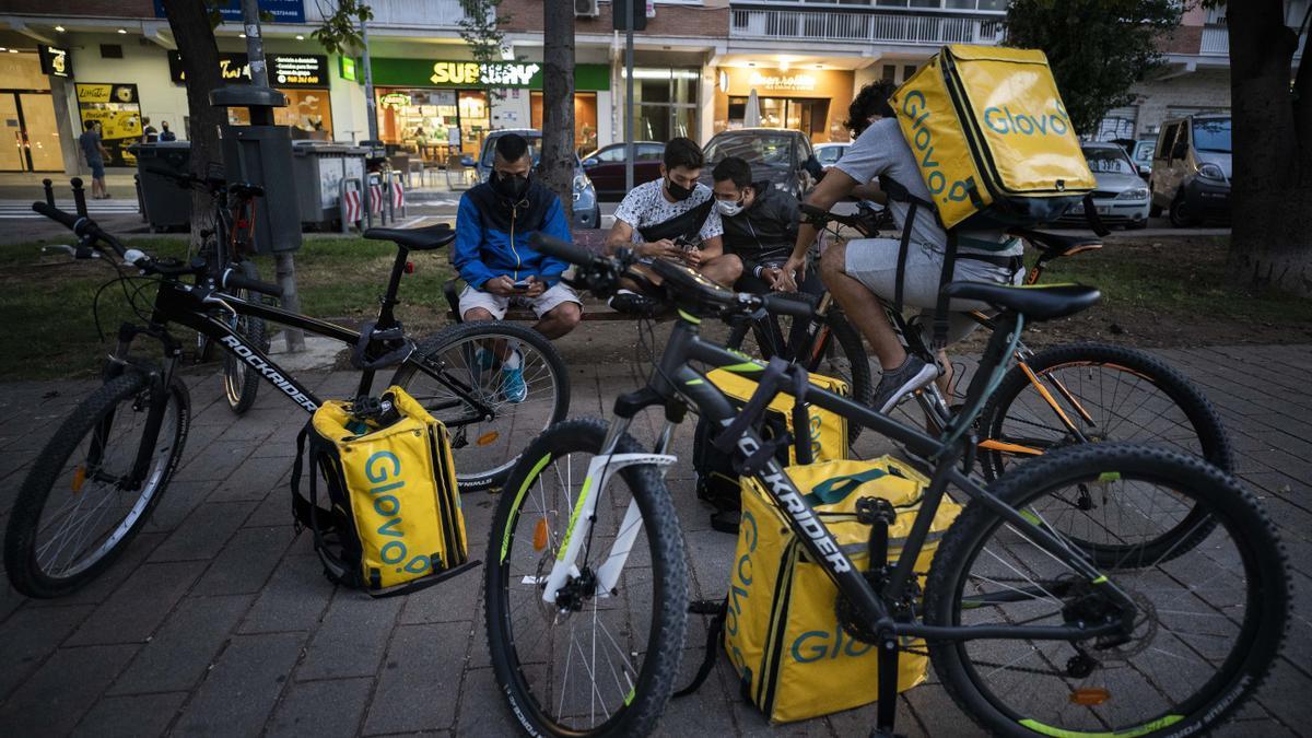 Glovo 'Riders' in Valencia