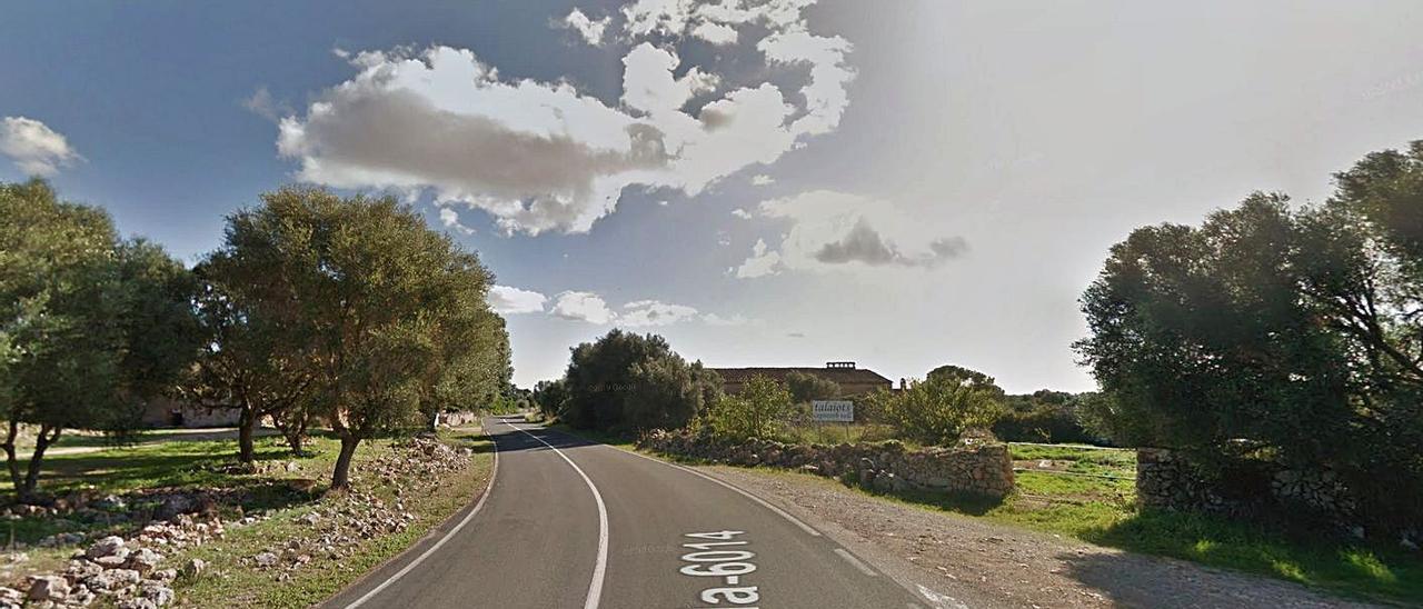 Lugar donde ocurrió ayer el accidente mortal de un motorista alemán pasado Cala Pi. | GOOGLE