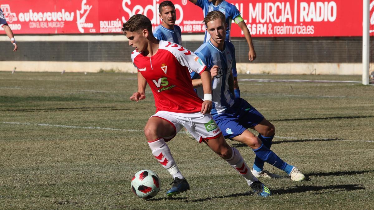 Josema Raigal, en un partido con el Real Murcia