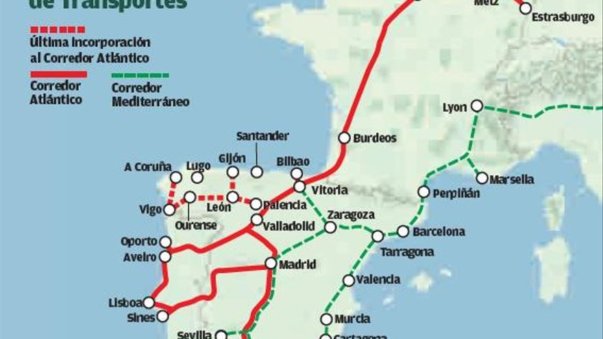 España y Portugal acuerdan relanzar el tren de altas prestaciones entre Galicia y Oporto