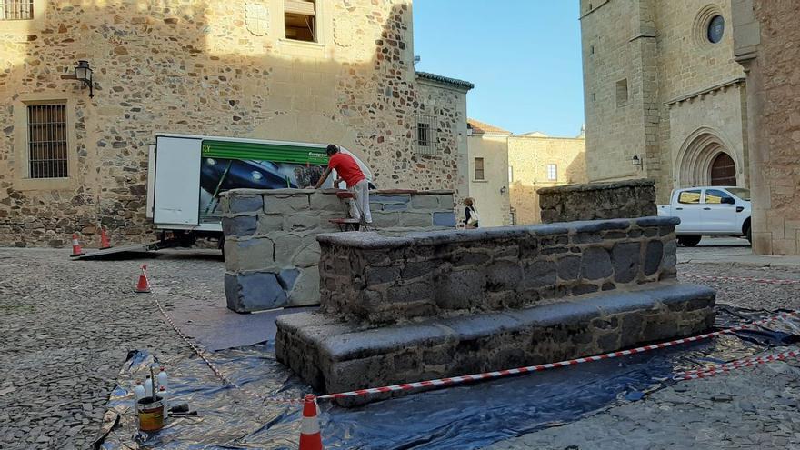 Comienza el montaje de escenarios en Cáceres para la precuela de 'Juego de Tronos'