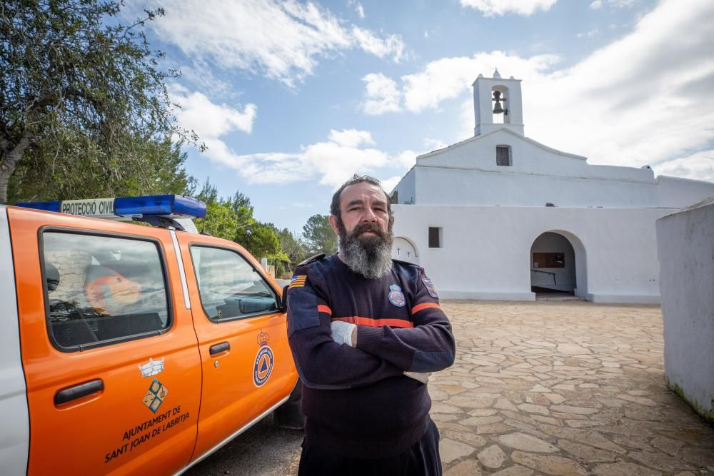 Juan Escandell, Jefe de la Agrupación de Protección Civil de Sant Joan