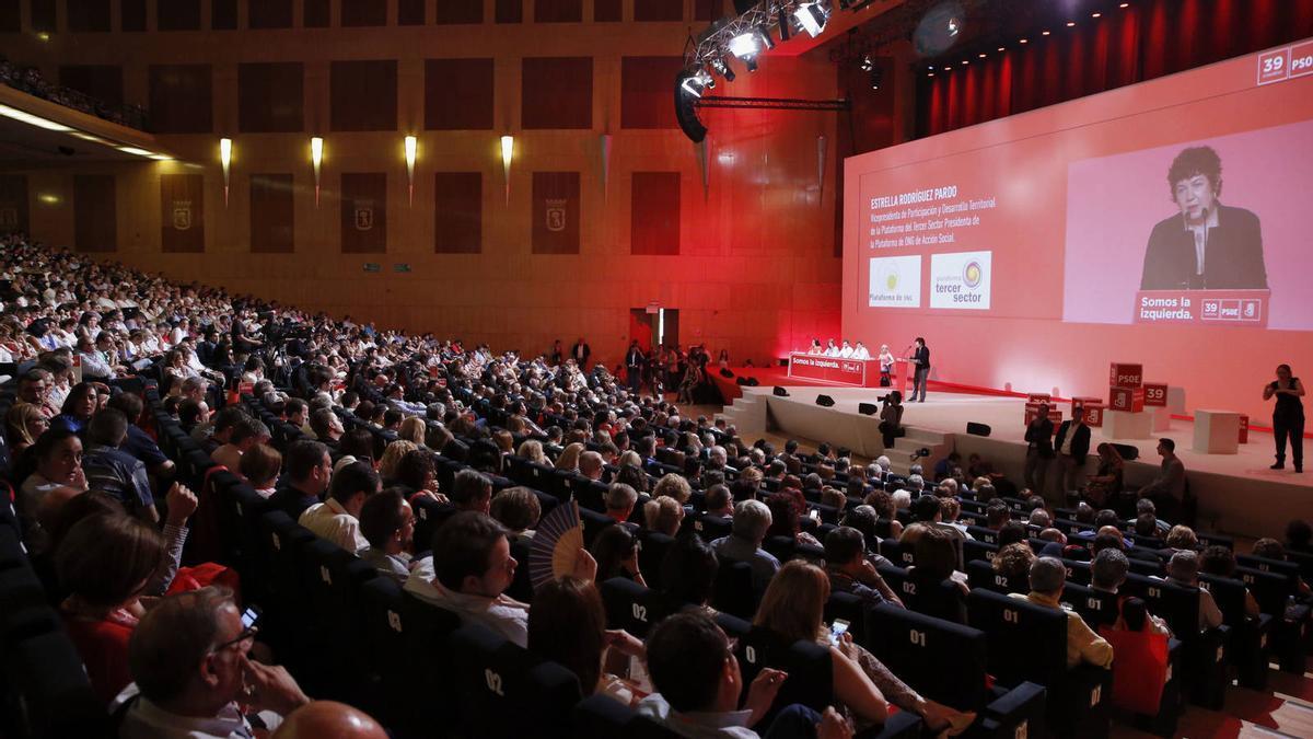 Imagen de archivo de un congreso del PSOE.