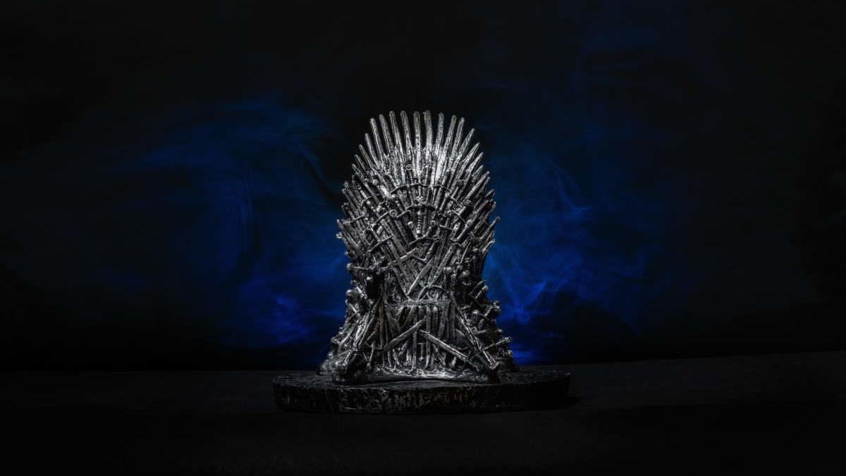 El trono de hierro de 'Juego de Tronos'.