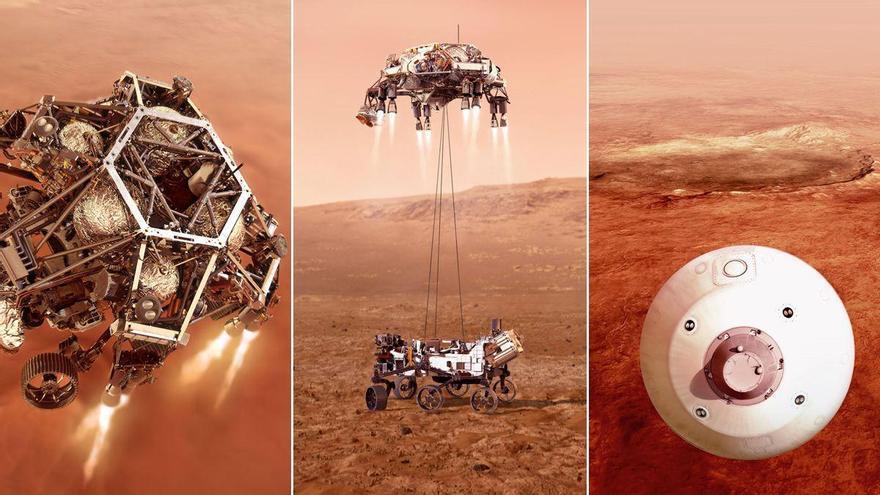 """Así serán los """"siete minutos de terror"""" del aterrizaje del 'Perseverance' en Marte"""