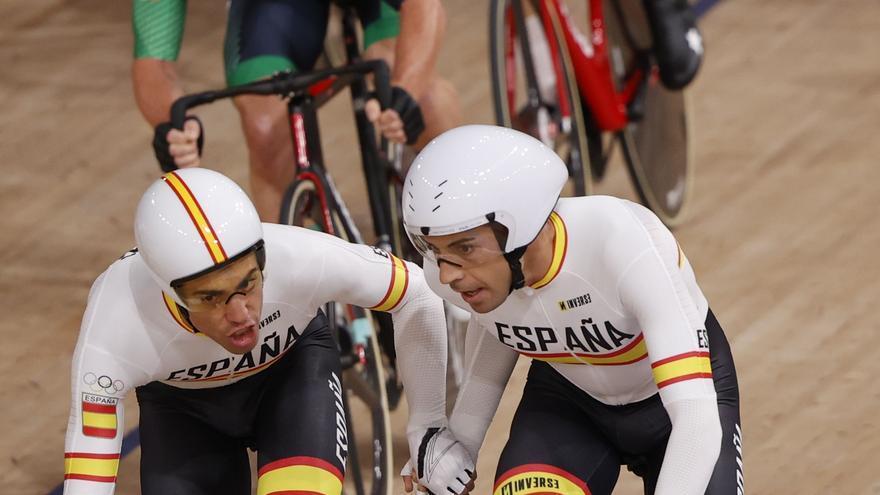 Sebastián Mora y Albert Torres, sextos en el madison