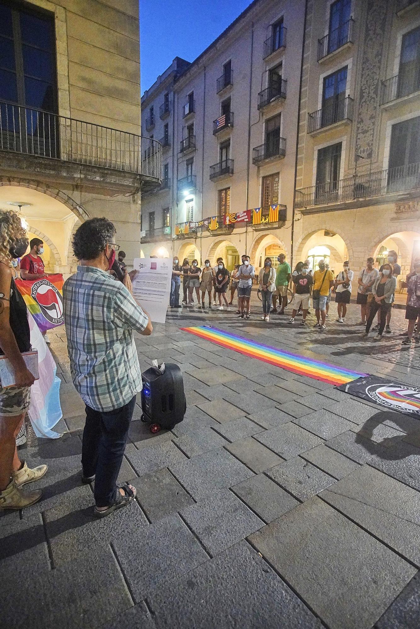 Concentració a Girona contra les agressions al col·lectiu LGTBI