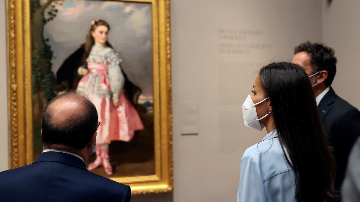 La reina Letizia ha inaugurado este lunes la nueva exposición del museo.