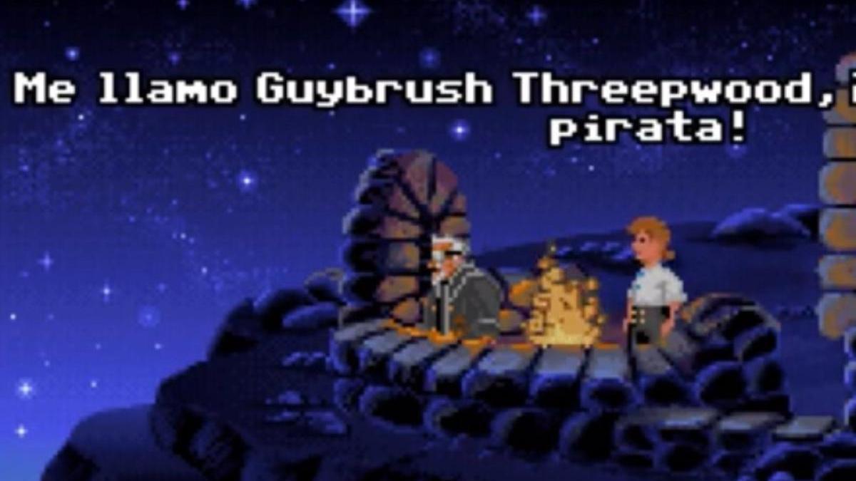 Guybrush Threepwood en Monkey Island.