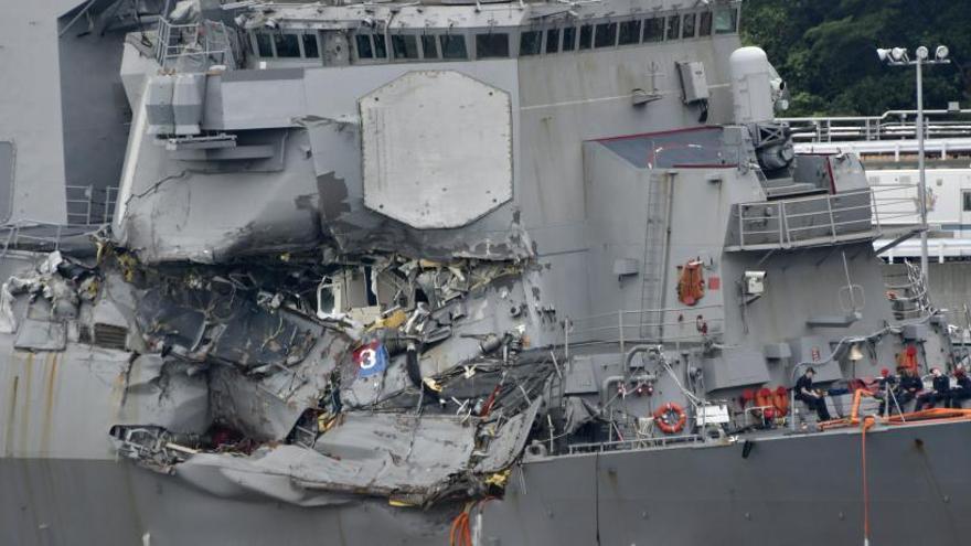 Hallan los cuerpos de los siete marineros estadounidenses desaparecidos en el Pacífico