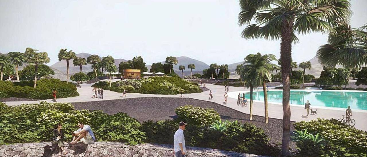 La ejecución del parque urbano de Playa Honda se licitará por 2,3 millones