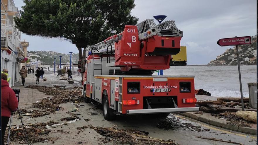 Borrasca Bella en Mallorca: El temporal causa numerosos incidentes en el Port d'Andratx