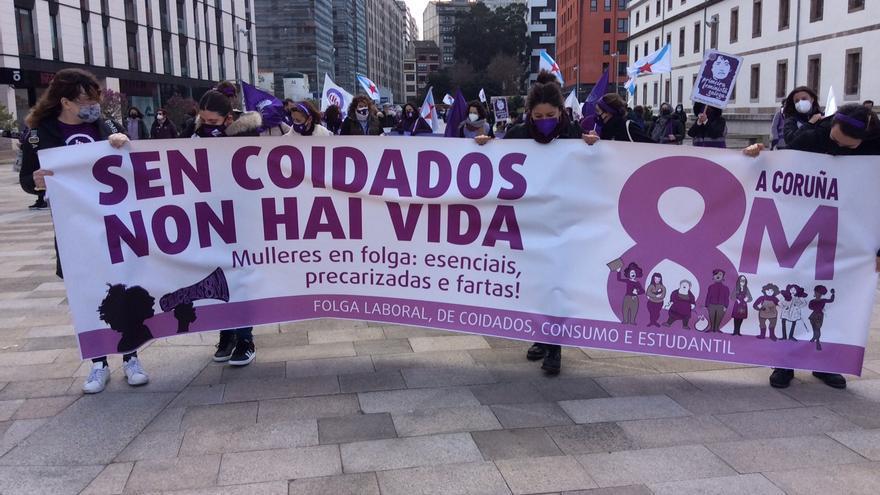 Arranca en A Coruña la manifestación convocada por Galegas 8M