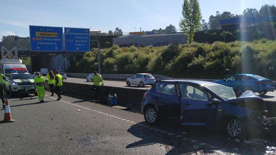 Accidente mortal en la AP-9 tras entrar un vehículo en la autopista en sentido contrario