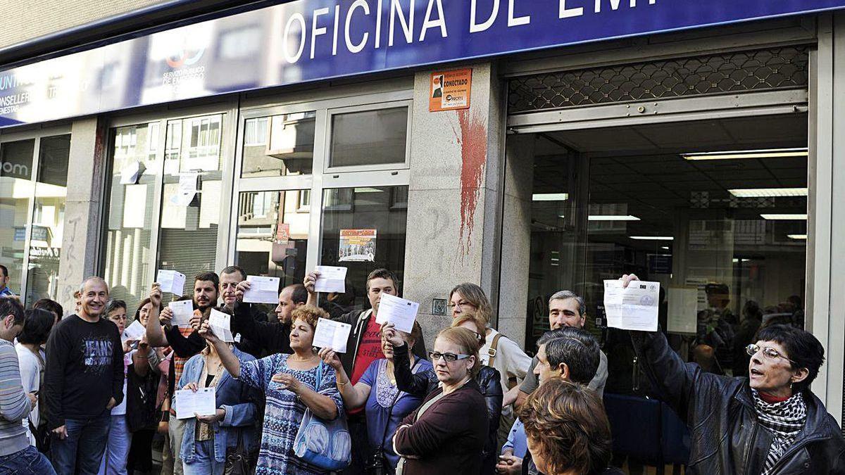 Mariscadores, en una protesta durante la anterior recesión.