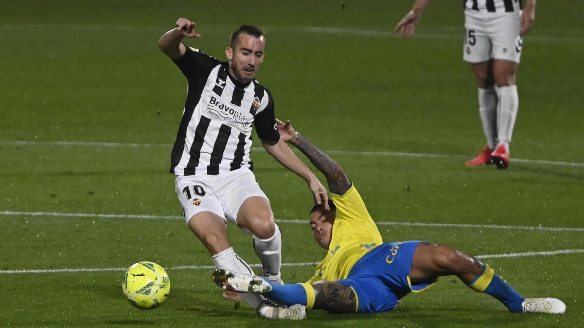 Rubén Díez completó su mejor partido contra Las Palmas: dos goles y una asistencia.