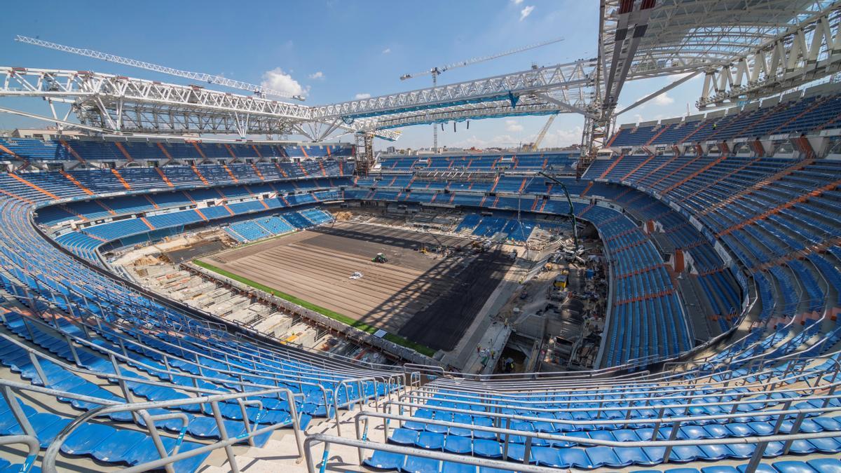 Una imagen de las obras en el estadio madrileño