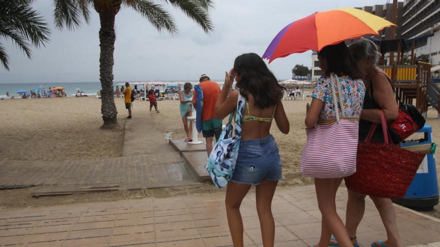 El tiempo en Alicante: Chubascos y ligero ascenso de las temperaturas para mañana en la provincia