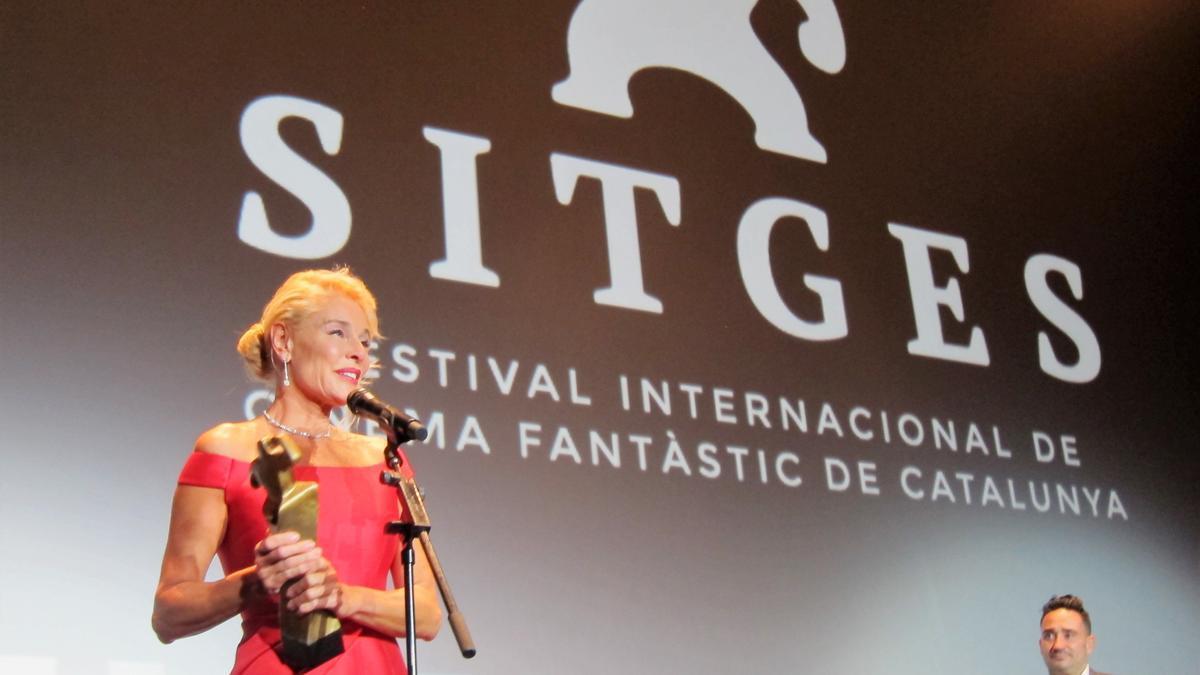 La actriz Belén Rueda recibe el Gran Premio Honorífico del Festival de cine de Sitges.