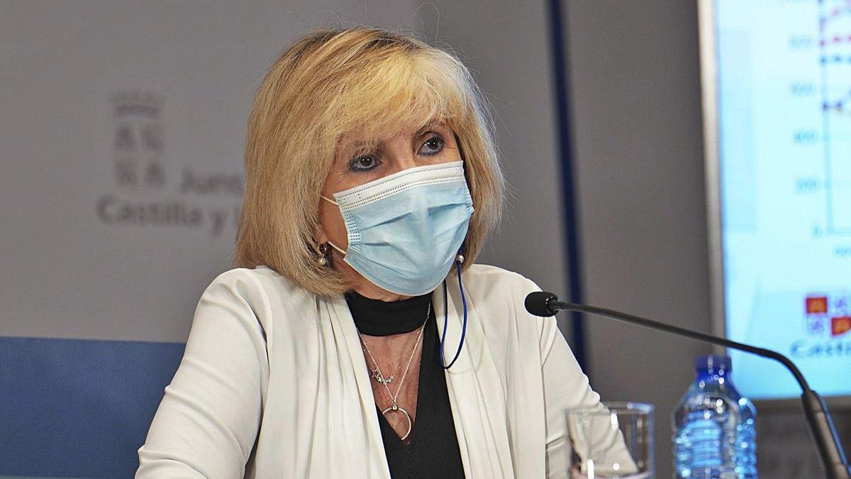 Verónica Casado, consejera de Sanidad de Castilla y León. | Europa Press