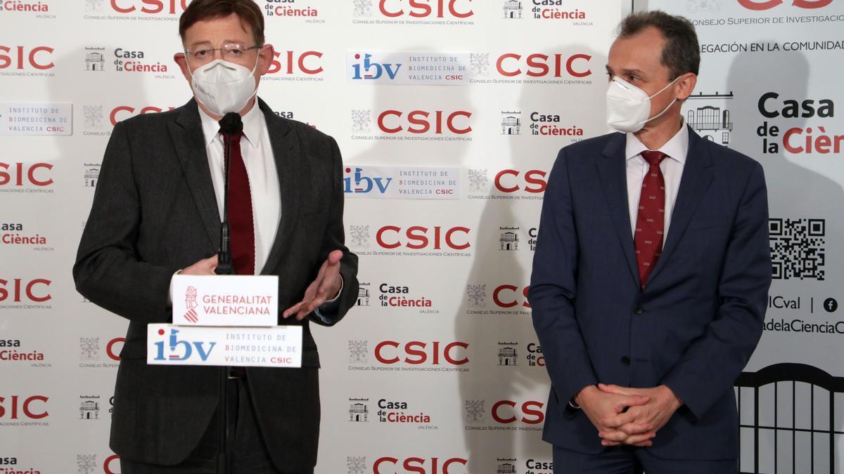 Puig y Duque destacan el liderazgo del sistema de innovación valenciano en la lucha contra el coronavirus