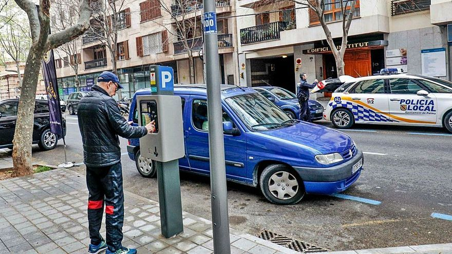 Más de la mitad de las 11.932 plazas de la ORA de Palma son ocupadas por residentes