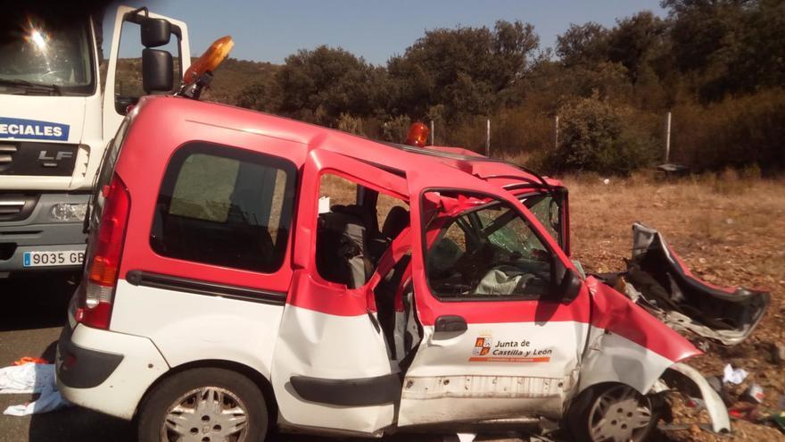 Tres fallecidos en el accidente de Moreruela de Tábara en la N-631