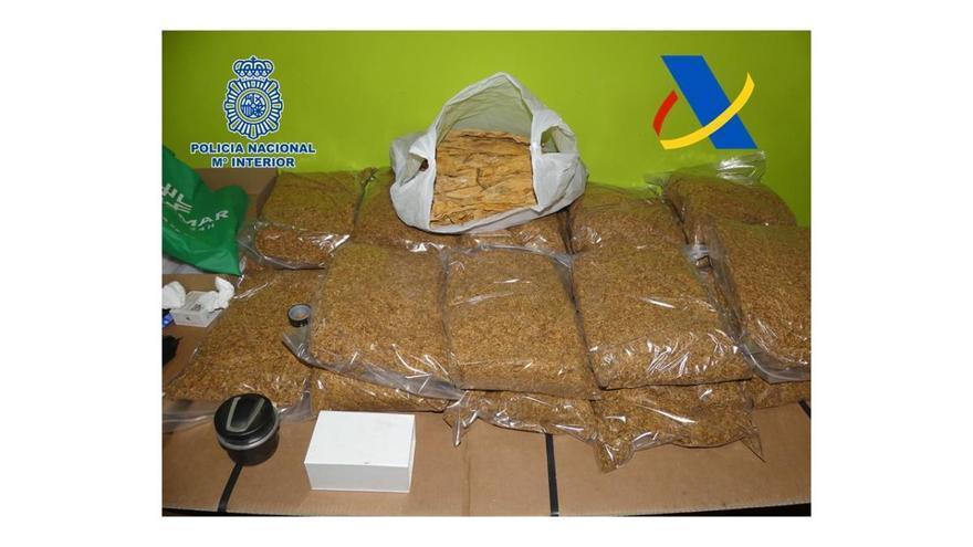 Aprendidos 300 kilos de tabaco ilegal en Santo Ángel y El Palmar