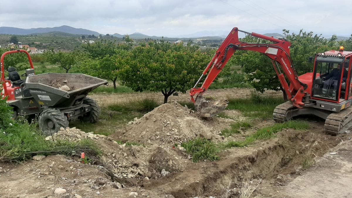 Arreglo de caminos rurales en Bullas