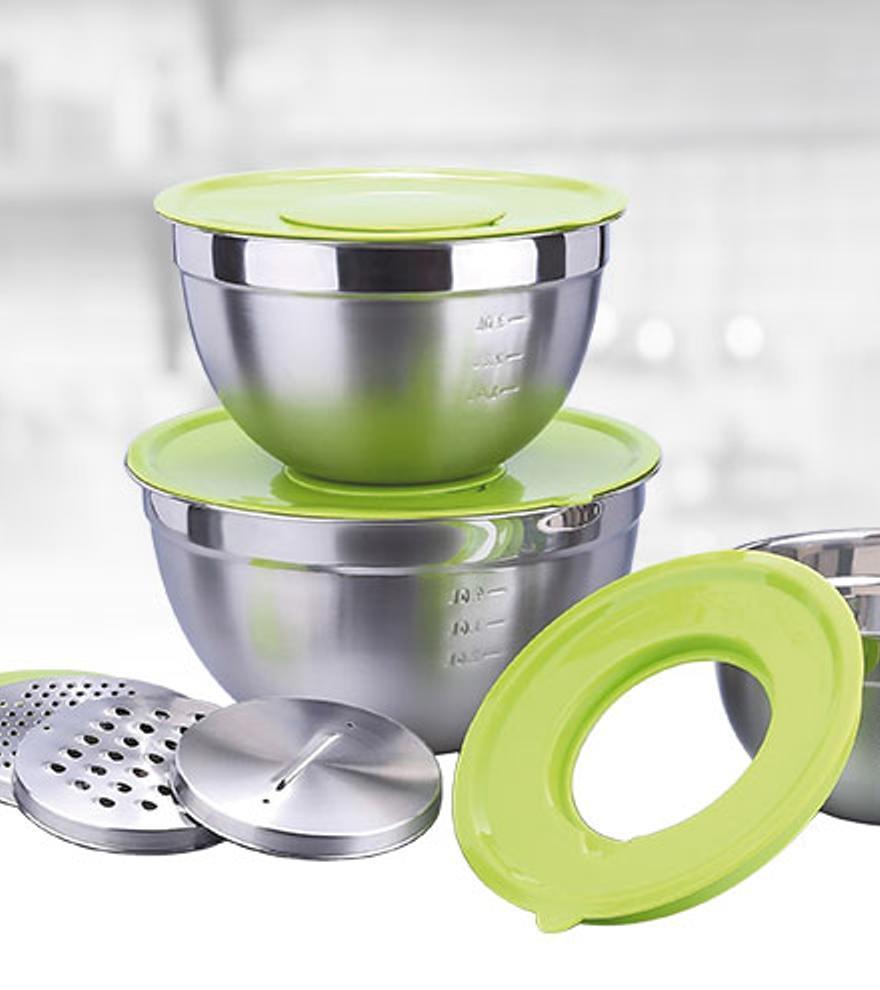 Prácticos boles de acero para hacer más fácil tu cocina