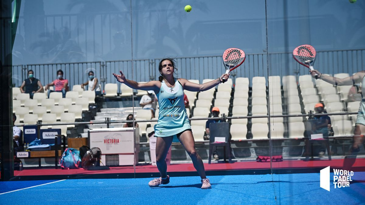 Paula Josemaría, en el duelo de octavos de final en Marbella, este jueves.