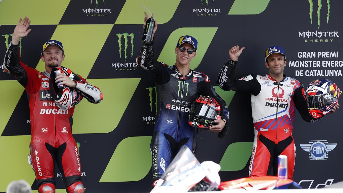 Quartararo, con Miller y Zarco, las tres primeras posiciones de la parrilla en Montmeló.