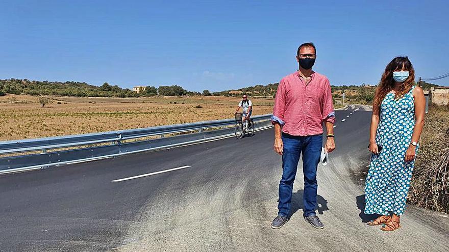 Manacor reforma la carretera de Son Macià