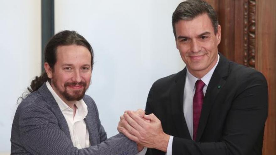 Sánchez e Iglesias presentan los Presupuestos para 2021