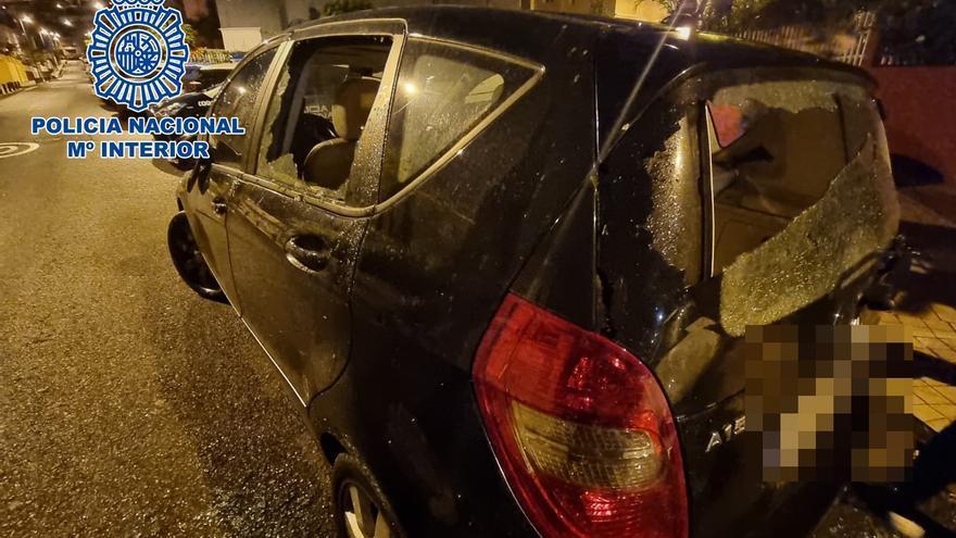 Daños a coches aparcados en Ciudad Jardín