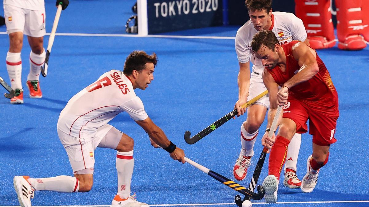 La selección española de hockey hierba pierde ante Bélgica.
