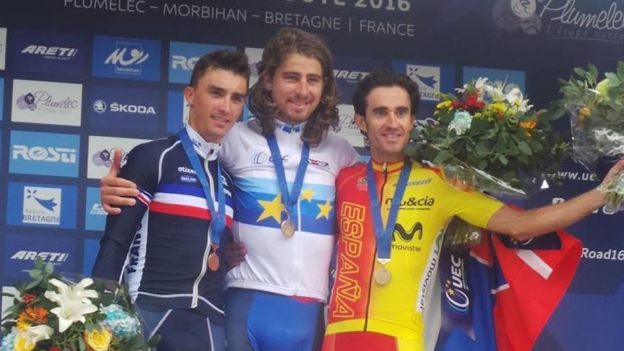 Dani Moreno acompaña a Sagan en el podio europeo