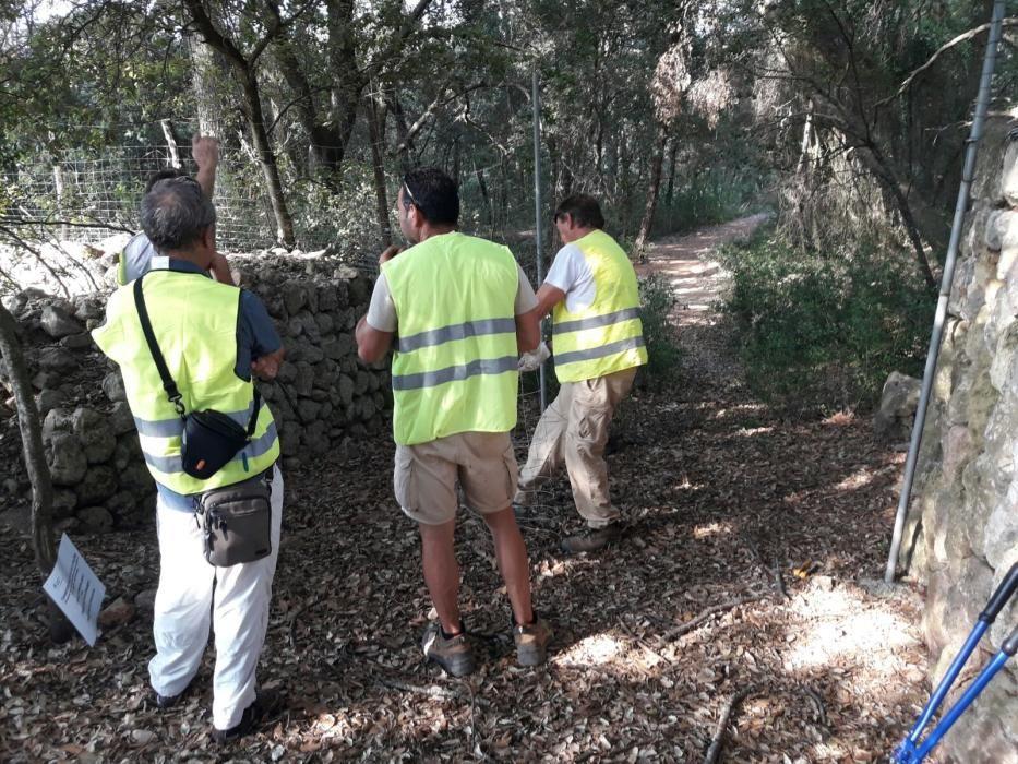 Apertura del camino público de la carreteta vieja Lluc Pollença