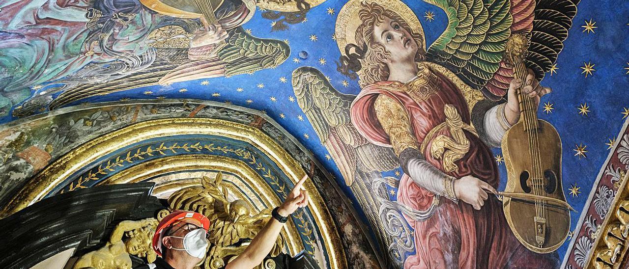 Alta tecnología para restaurar los célebres ángeles músicos