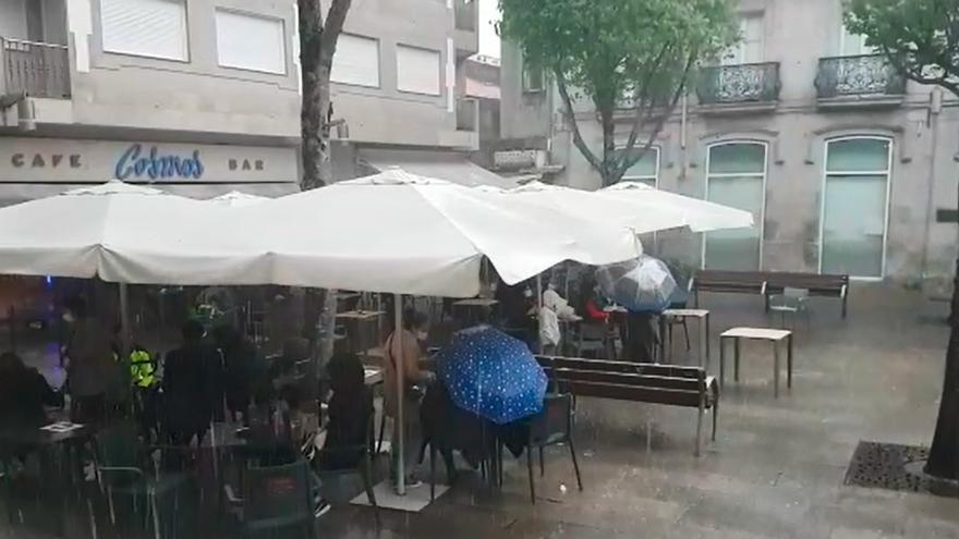 Así fue el paso de la borrasca 'Lola' por Galicia: trombas de agua y más de 1.400 rayos