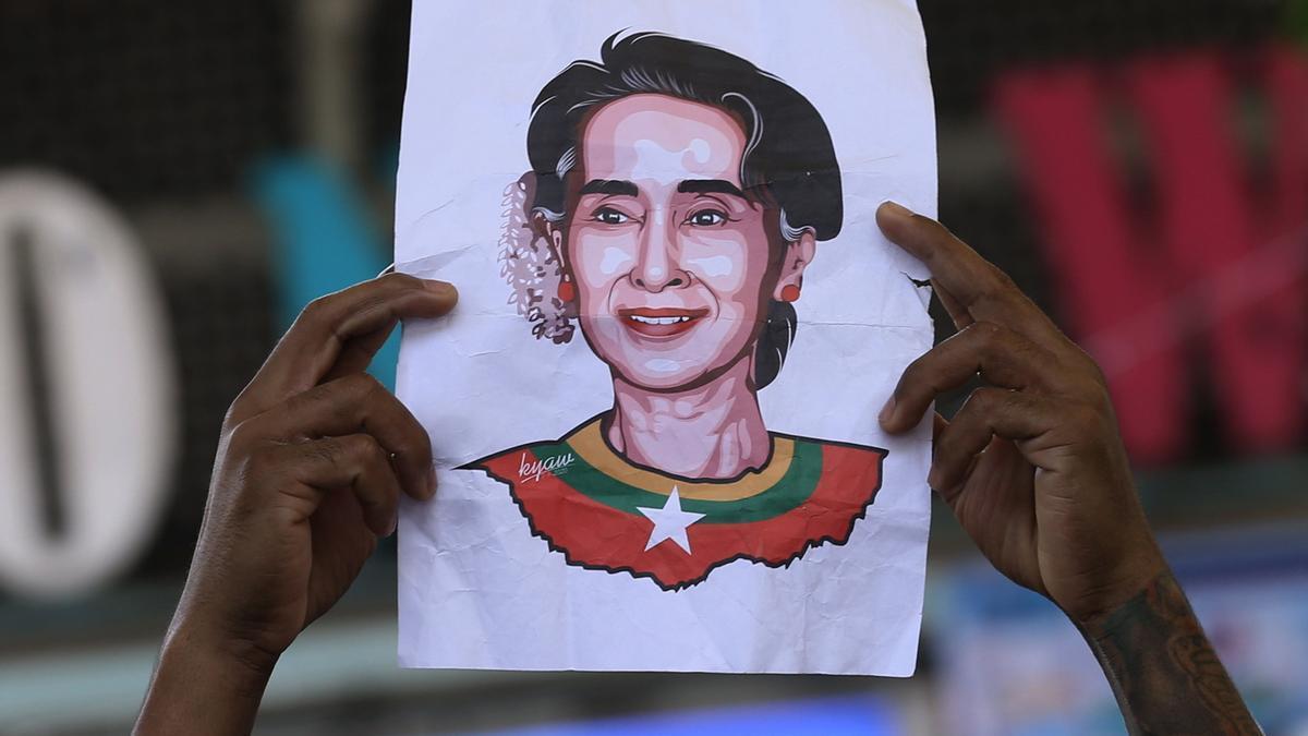 Una imagen de Aung San Suu Kyi.