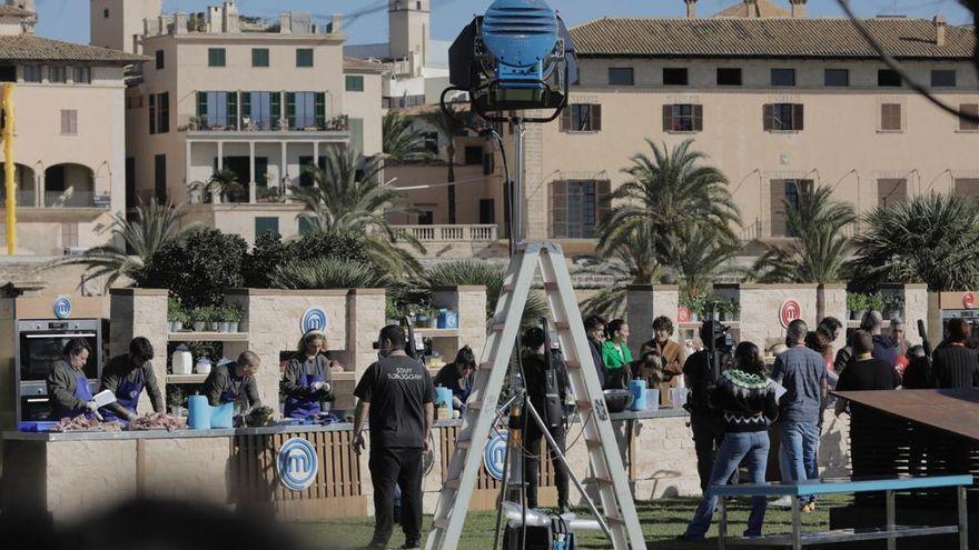 'MasterChef' graba frente a la Catedral de Palma