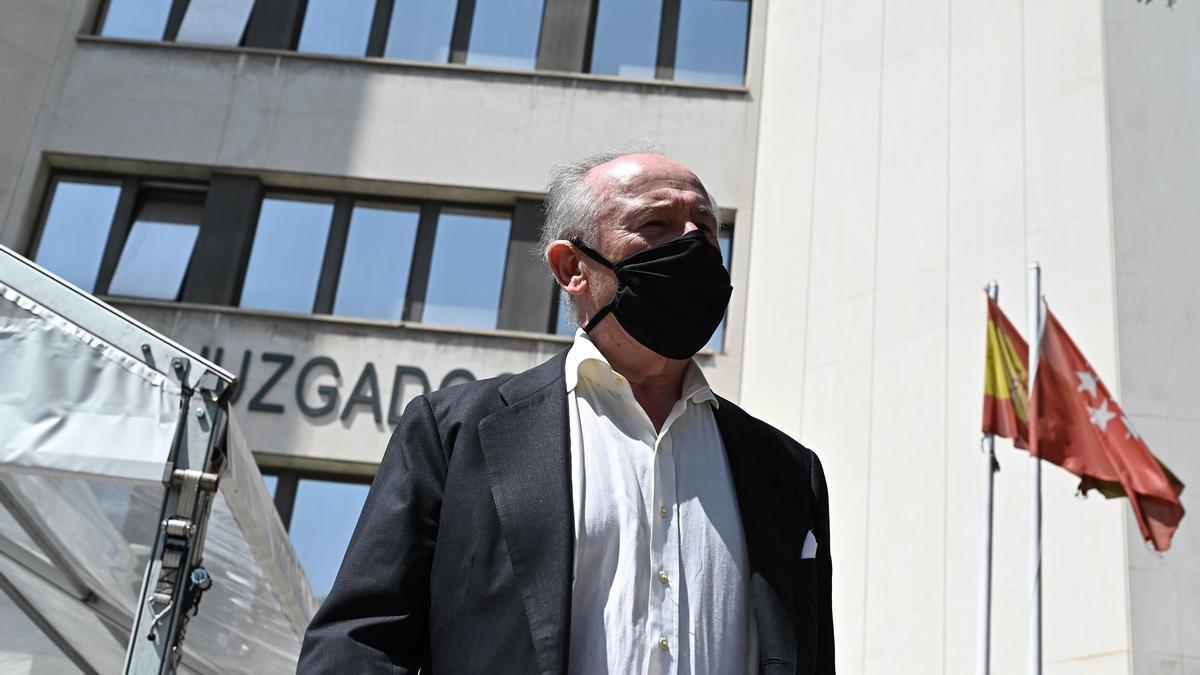 Rodrigo Rato, en los juzgados de plaza Castilla.
